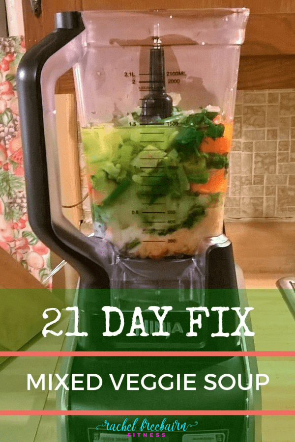 Mixed Veggie Soup in a blender