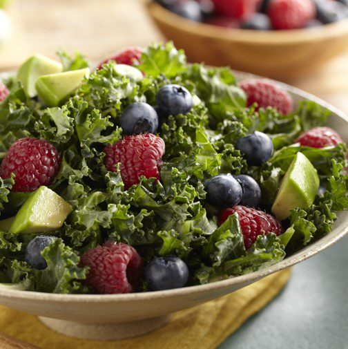 Raspberry-Blueberry Kale Salad