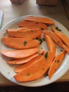 Grilled Sweet Potatoes with Cilantro Lime Dressing Recipe