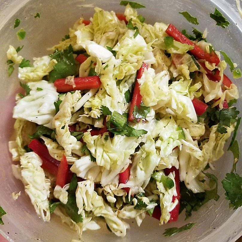 Spicy Lime and Jalapeño Coleslaw